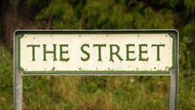 Sign: The Street. Seen in Lower Halstow, Kent, England, UK stock photos