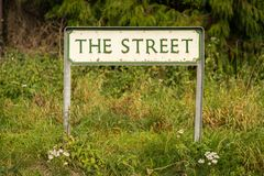 Sign: The Street. Seen in Lower Halstow, Kent, England, UK royalty free stock photography
