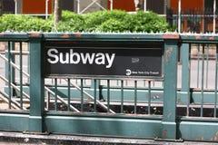 sign subway Στοκ Εικόνες