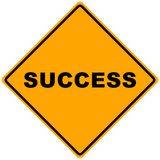 A Sign of Success. An inspirational illustration, for business and teambuilding - internet Royalty Free Stock Image