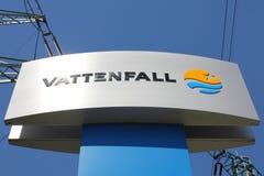 Sign of the Swedish power company Vattenfall Royalty Free Stock Photo