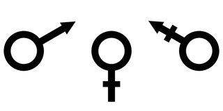 Sign symbol of gender equality Male, female and transgender equality Royalty Free Stock Photography