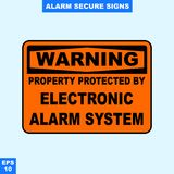 Emergency alarm and security alert signs in vector style version, easy to use and print. Sign and symbol for office and factory worker, attention the rule Royalty Free Stock Photography