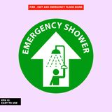 Fire exit and emergency sign in  syle version, easy to use and print. Sign and symbol for office and factory worker, attention the rule Stock Images