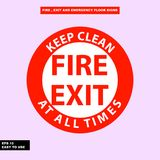 Fire exit and emergency sign in  syle version, easy to use and print. Sign and symbol for office and factory worker, attention the rule Royalty Free Stock Image