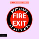 Fire exit and emergency sign in  syle version, easy to use and print. Sign and symbol for office and factory worker, attention the rule Royalty Free Stock Photos