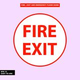 Fire exit and emergency sign in  syle version, easy to use and print. Sign and symbol for office and factory worker, attention the rule Royalty Free Stock Photo