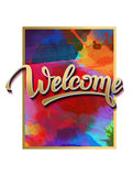 Sign, symbol word welcome Royalty Free Stock Photography