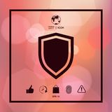 Shield, protection icon. Sign and symbols. Graphic elements for your design Royalty Free Stock Photography
