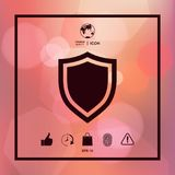 Shield. Protection icon. Sign and symbols. Graphic elements for your design Royalty Free Stock Image