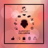 Technical support operator flat icon. Sign and symbols. Graphic elements for your design Stock Photo