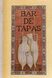 Sign tapas in a Spanish bar Stock Images