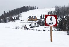 Sign in Tatra mountains Royalty Free Stock Photo