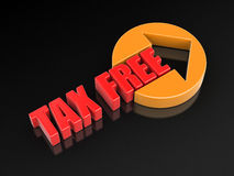 Sign tax free Royalty Free Stock Images