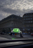 Paris Taxi Royalty Free Stock Images