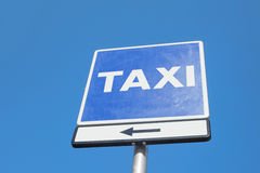 Sign of taxi station in Barcelona, Spain. Sign of taxi station in Barcelona, Spain Stock Photo