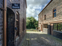 Sign for the tea rooms at Middleport Pottery, Stoke Royalty Free Stock Images