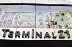 Sign of Terminal 21 in Bangkok, Thailand Stock Photo
