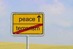 Sign terrorism peace Royalty Free Stock Photo
