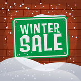 Sign with text Winter Sale Stock Image