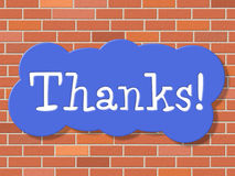 Sign Thanks Means Thankful You And Appreciate Royalty Free Stock Photo
