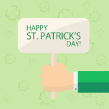 Sign with theme of Patricks day Royalty Free Stock Photo