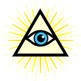 Sign third eye. Vector symbol - All seeing eye. Sign - third eye stock illustration