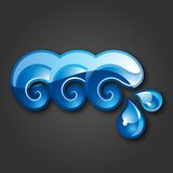 Sign three Waves-gray background. 10 EPS Stock Image