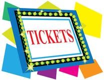 sign tickets Στοκ εικόνες με δικαίωμα ελεύθερης χρήσης