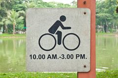 Sign of time for Bicycle Stock Images