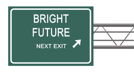 Sign to bright future Royalty Free Stock Photo