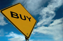 A Sign to Buy. Its a Buyers Market, and what better way to show it than this illustration Royalty Free Stock Photo
