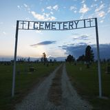Sign to cemetary Royalty Free Stock Photos