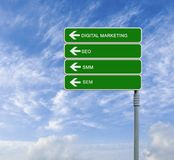 sign to digital marketing Stock Images