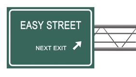 Sign to  easy street. Road sign to  easy street Royalty Free Stock Photo