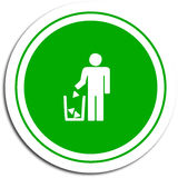 Sign to encourage careful waste disposal Royalty Free Stock Photography