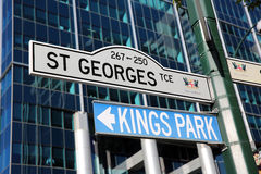 Road Sign Perth Royalty Free Stock Images