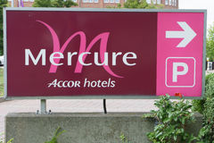 Sign to Mercure Hotel Royalty Free Stock Images