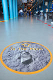 Sign of To the Moon in Kennedy Space Center Stock Images