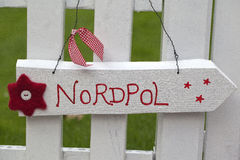 Sign to north pole Royalty Free Stock Photos