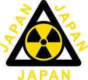 Sign to radiation on white background Stock Photo