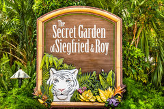 Sign to Siegfried and Roy Secret Garden Stock Photography