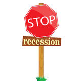 Sign to stop recession vector illustration Stock Image