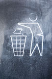 A sign to use the trash bin Royalty Free Stock Photography