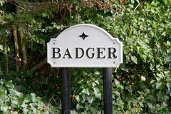 Badger Dingle sign royalty free stock image