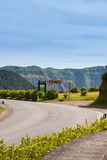 Sign to Vista do Rei, next to Road, Sao Miguel, Azores, Portugal Royalty Free Stock Photos