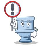 With sign toilet character cartoon style. Vector illustration Stock Photo