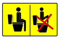 Sign at toilet Stock Image