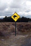 Sign at Tongariro Nt. Park Stock Photo
