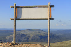 The sign on top of the mountain Stock Photography